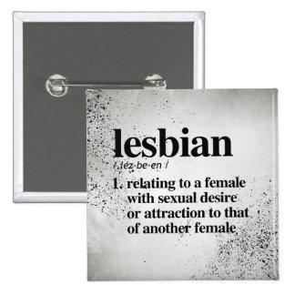 Lesbian Definition - Defined LGBTQ Terms - Pinback Button