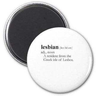 LESBIAN (definition) Fridge Magnet