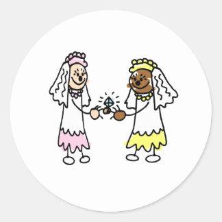 Lesbian Diamonds Classic Round Sticker