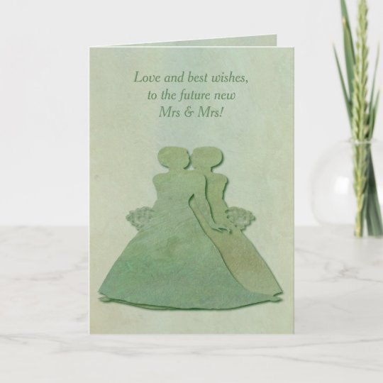 Lesbian engagement congratulations mint rustic card zazzle lesbian engagement congratulations mint rustic card m4hsunfo