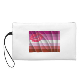 LESBIAN FLAG FLYING WRISTLET CLUTCHES