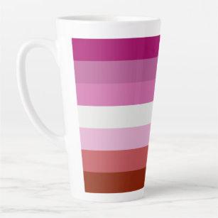 Lesbian Flag Latte Mug
