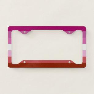 Lesbian Flag License Plate Frame