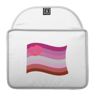 LESBIAN FLAG WAVING WITH SYMBOL SLEEVES FOR MacBook PRO