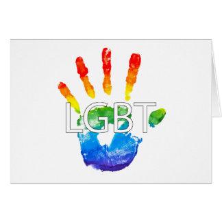 Lesbian Gay BiSexual Transgender LGBT Pride Card