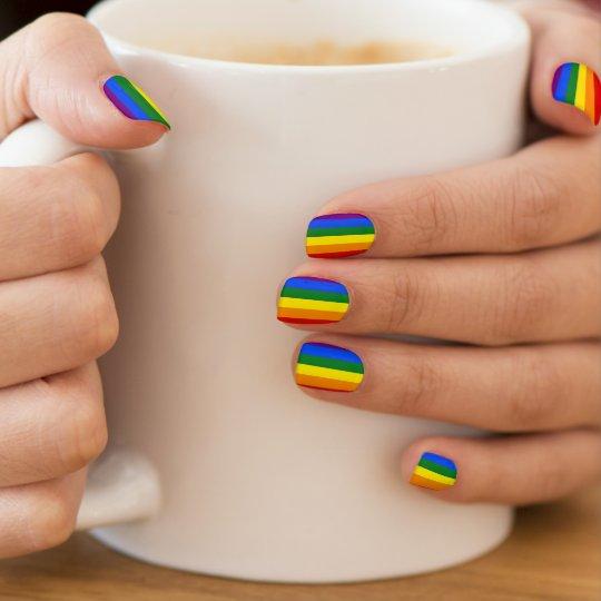 Lesbian Gay Bisexual Transgender Rainbow Pride Minx Nail Art