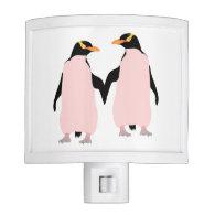 Lesbian Gay Pride Penguins Holding Hands Nite Lites