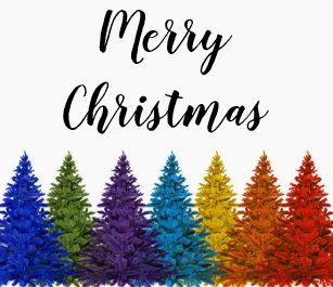 lesbian gay pride rainbow flag christmas tree ceramic ornament - Gay Pride Christmas Decorations