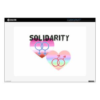 """Lesbian Gay Solidarity 15"""" Laptop Skins"""