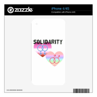 Lesbian Gay Solidarity Decal For iPhone 4
