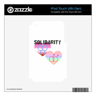 Lesbian Gay Solidarity iPod Touch 4G Decals