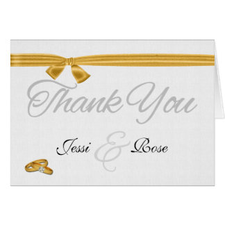 Lesbian / Gay Wedding Thank You Two Brides Stationery Note Card