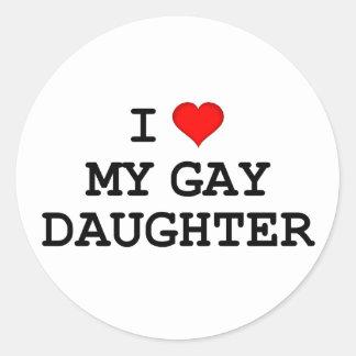 Lesbian Gift Classic Round Sticker