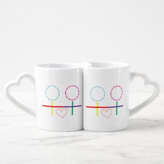 Lesbian - Girls Love Coffee Mug Set