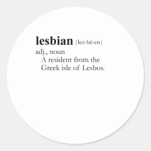 LESBIAN GREEK CLASSIC ROUND STICKER