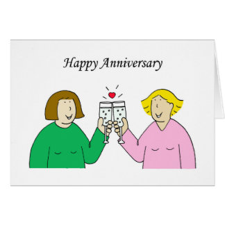 Lesbian Happy Anniversary. Card