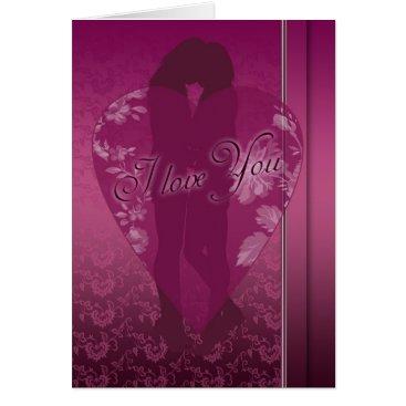 moonlake Lesbian I love You Card, With Female Silhouette Card