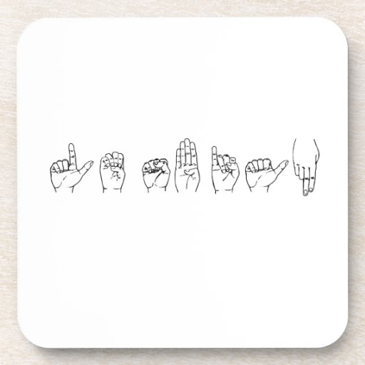 Lesbian in Sign Language Beverage Coasters