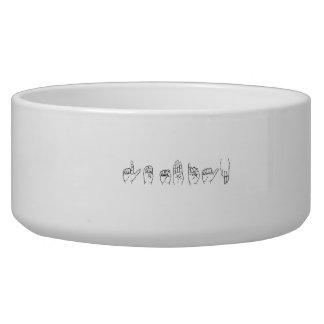 Lesbian in Sign Language png Dog Food Bowls