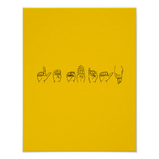 Lesbian in Sign Language Print