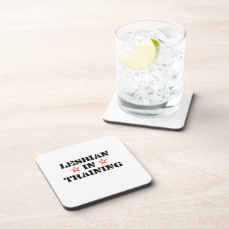 Lesbian in training .png drink coaster