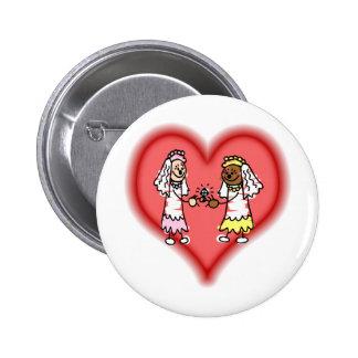 Lesbian Interracial Brides Button