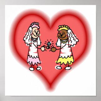 Lesbian Interracial Brides Poster