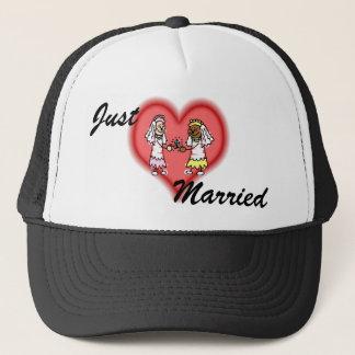 Lesbian Interracial Brides Trucker Hat