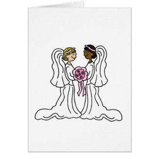 Lesbian Interracial Couple Card