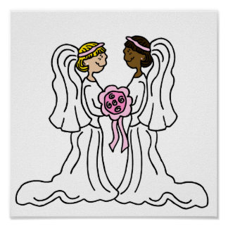 Lesbian Interracial Couple Poster