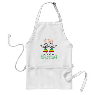 Lesbian Just Married Adult Apron
