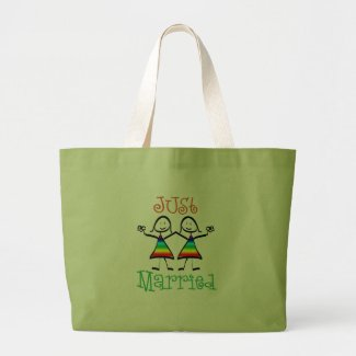 Lesbian Just Married bag