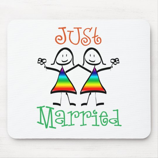 Lesbian Just Married Mouse Pad