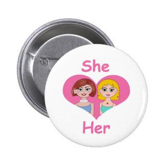 Lesbian Love 2 Inch Round Button