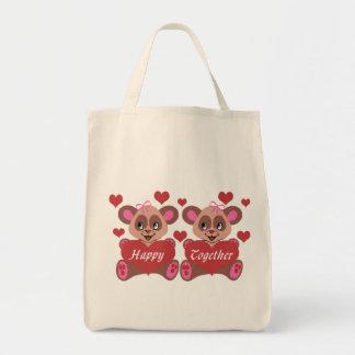 Lesbian Love Grocery Tote Bag