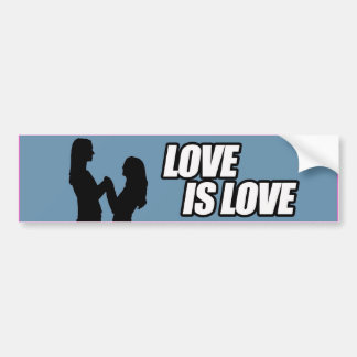 LESBIAN LOVE IS LOVE -.png Car Bumper Sticker