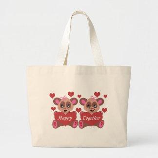 Lesbian Love Jumbo Tote Bag