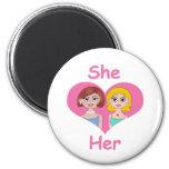 Lesbian Love Refrigerator Magnets