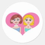 Lesbian Love Round Sticker