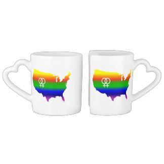 Lesbian Love Wins Coffee Mug Set