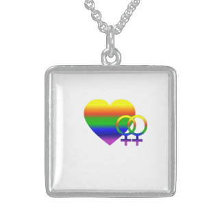 Lesbian Love Wins Sterling Silver Necklace