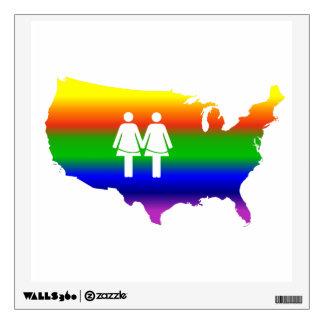 Lesbian Love Wins Wall Decal