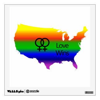 Lesbian Love Wins Wall Sticker