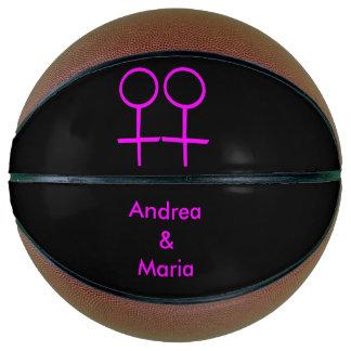 Lesbian Lovers Personalized Basketballs Basketball