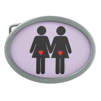 LESBIAN LOVERS - .png Belt Buckles