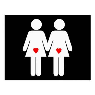 Lesbian Lovers - Postcard