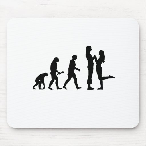 Lesbian Marriage Evolution Mouse Pad