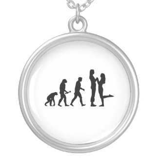 Lesbian Marriage Evolution Personalized Necklace