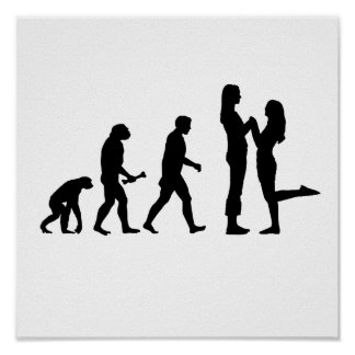 Lesbian Marriage Evolution Poster