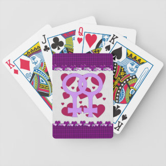 Lesbian Marriage Hearts Bicycle Playing Cards